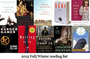 My 2012 Fall/Winter reading list